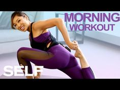 5 Morning Workout Moves That Will Wake You Up ft. Cassey Ho | SELF - YouTube