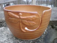 Yarn Bowl Dragonfly Yarn Bowl Yarn Bowl Gold by aaharrison on Etsy, $43.00