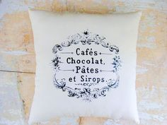 Cute pillow  makes me hungry for Chocolat!