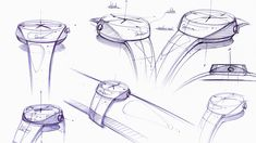 watch sketch on Behance