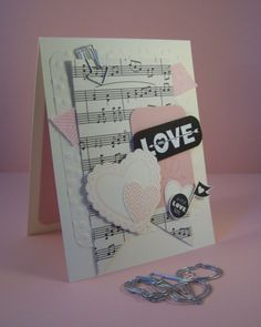 Little Love Note by Robin Lee - Cards and Paper Crafts at Splitcoaststampers Aniversary Cards, Musical Cards, Z Craft, Valentine Love Cards, Romantic Cards, Scrapbook Cards, Scrapbooking, Paper Crafts, Card Crafts