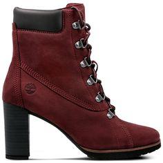 TIMBERLAND LESLIE ANNE LACE UP BORDOWY CA1PZ4 - Kozaki 415,99 PLN - Symbiosis.com.pl Timberland, Boho Dress, Lace Up, Wedges, Shoes, Fashion, Moda, Zapatos, Shoes Outlet