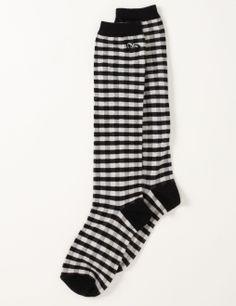 plaid Roxy boot socks.