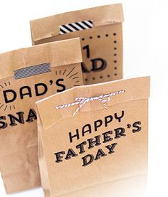 Free DIY printable bags for Father's Day treats by Sara Hearts