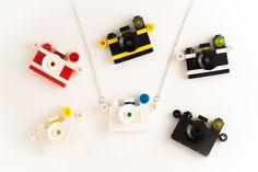 Lego camera necklace