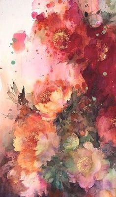 Com despre picturi acuarela, artist yuko nagayama Watercolour Painting, Watercolor Flowers, Painting & Drawing, Watercolors, Cave Painting, Watercolor Portraits, Watercolor Landscape, Arte Floral, Art Aquarelle