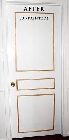 DIY, door molding