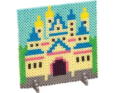 This handsome castle made from Perler Beads is the stuff of fairy tales. Make up a story about the princess that lives here as you create it.
