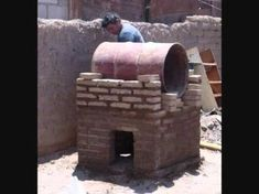Build an authentic masonry fireplace with the efficiency of a masonry stove! The baffle system in this fireplace extracts heat from the exhaust, warming up t. Pizza Oven Outside, Pizza Oven Outdoor, Outdoor Cooking, Wood Oven, Wood Fired Oven, Wood Fired Pizza, Oven Diy, Diy Pizza Oven, Pizza Ovens