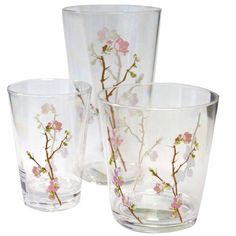Corelle Coordinates Cherry Blossom Acrylic Glass 8-oz (Set of 6) Pink/Brown  sc 1 st  Pinterest & Some jars...   All things Cherry Blossom! :)   Pinterest   Pink dishes