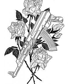 Kritzelei Tattoo, Tattoo Dotwork, Body Art Tattoos, Hand Tattoos, Sleeve Tattoos, Ak47 Tattoo, Tattoo Design Drawings, Tattoo Sketches, Tattoo Designs Men