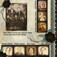 Mary Hester Powell's Family...like the use of film strips to showcase multiple photos.