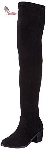 Buffalo Il 30602 XS aNILINA Over Knee Bottes FemmeNoirSchwarz (Preto 01), Taille 37 EU