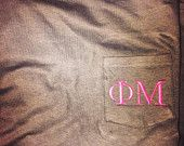 Monogram pocket tees! Perfect gift! $22.50 with an additional 10% off with code FIRSTORDER