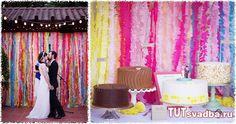 Гирлянда из гофрированной бумаги своими руками + Фото » Свадебный портал ТУТ СВАДЬБА