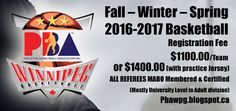 PBA Winnipeg Announces Fall / Winter 2016-17 League Details   The Philippine Basketball Association (PBA) of Winnipeg has announced details on their upcoming basketball season. Leagues are open to players born 1995 to 2008 and open. The league will be hosting a meeting for club teams to attend on Sunday Sept 25 2016 Sunday at 2:00 pm at the CanadInn Garden City to discuss rules and regulations and to confirm teams. Details include..  More information can be found on the league's website…