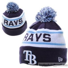 f45bfba7133 Tampa Bay Rays MLB Biggest Fan Pom Beanies Knit Hats Cap