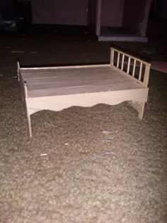 I made a doll bed out of popsicle sticks and hot glue!!!