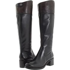 Vince Camuto Duke Hiboot Black & Brown Riding Boot #VinceCamuto $210.00 #zappos