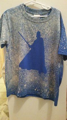 DIY Star Wars Shirt Darth Vader stencil then spray bleach ...