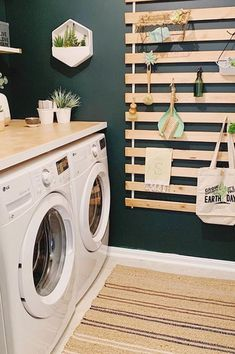 Laundry Room Colors, Rustic Laundry Rooms, Modern Laundry Rooms, Laundry Room Shelves, Laundry Room Remodel, Farmhouse Laundry Room, Laundry Closet, Laundry Room Organization, Laundry Room Design