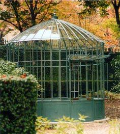 Orchid greenhouse in the garden of the Elysee Palace in Paris under the direction of landscape architect Louis Benech.