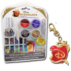 - You Loved Mal, Evie, Audrey, Ben and Carlos in the Hit Disney Movie the Descendants! - And You'll Love Your New Descendants Key-Chain and Art Nail Set - Featuring the Bitten Apple Key Chain has a Be
