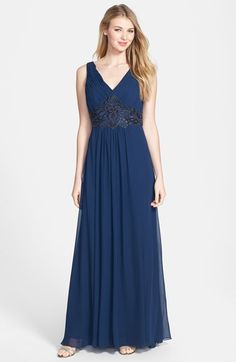 Sue Wong Embellished Georgette Gown available at #Nordstrom
