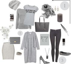 GREYITIS! Grey, Polyvore, Shopping, Image, Fashion, Gray, Moda, Fashion Styles, Fashion Illustrations