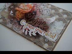 Как сделать открытку своими руками - Скрапбукинг LIVE / Aida Handmade - YouTube