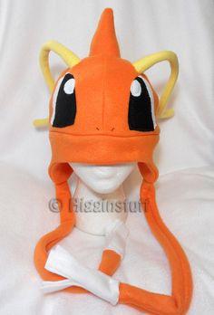 Pokemon Inspired Dragonite Fleece Hat -MADE TO ORDER-