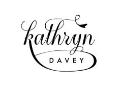 Kathryn Davey Logo Concept by Jennifer Hood: Beautiful use of thick and thins, and I really like how Davey is contained within the loop of the K. The leaf-like shape off the curlicue of the T adds a really nice touch of whimsy.