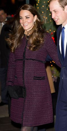 Will and Kate in NYC, December 2014. Pregnant with their second child.