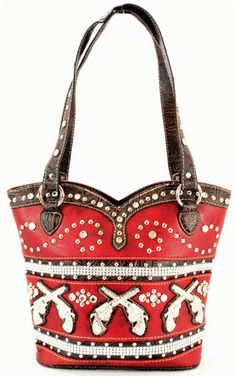 Western Purses Red with Guns-red purses,cowgirl purses,western style purses,western purse,guns on purse