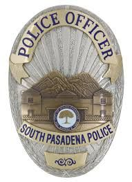 Us State Of California City Of South Pasadena Police Department Badge Current Police South Pasadena Police Badge