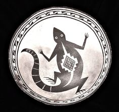 Lizard - The prehistoric Mimbres culture would paint the simple world around them, but did so in the most fantastic of ways.