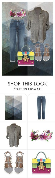 """""""Untitled #267"""" by stina715 on Polyvore featuring M.i.h Jeans, Rock 'N Rose, Valentino and Giancarlo Petriglia"""