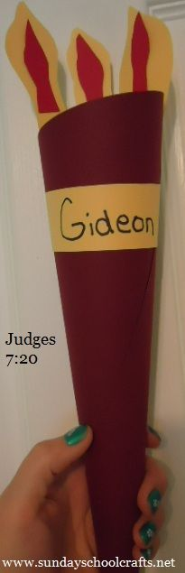 Here's a fun craft that ties into the Gideon Bible story the kids studied this past week! Description from pinterest.com. I searched for this on bing.com/images