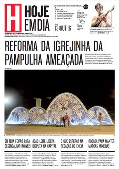 Capa do dia 13/10/2016 #HojeEmDia #Jornal #Notícias #News #Newspaper