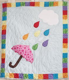 Sew Can Do: FREE Project Pattern: The Rainbow Showers Quilt - this is my next baby quilt!