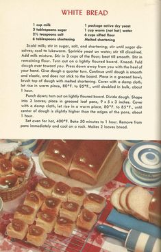 Vintage recipes, recipes, breads, muffins, doughnuts – Famous Last Words Retro Recipes, Old Recipes, Vintage Recipes, Cookbook Recipes, Bread Recipes, 1950s Recipes, Cooking Recipes, Light Recipes, Family Recipes