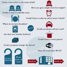 Vocabulaire : à l'hôtel-anglais
