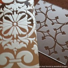 Glass and Mirror etching with custom Modello stencils - DIY project from Royal Design Studio