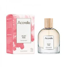 Eau de Parfum Bio & Vegan Velvet Rose Acorelle Parfum Bio, Fragrance Parfum, Perfume Bottles, Vegan, Gentleness, Gift Ideas, Perfume Bottle