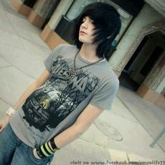 emo boy <3 well hey there