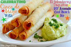 Celebrating Cinco de Mayo With El Monterey Taquitos & DIY Avocado Cool Ranch Dip #momwins #elmonterey #cincodemayo