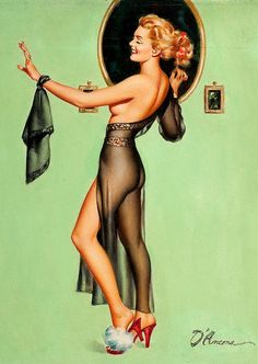 Edward D'Ancona  Although D'Ancona was a prolific pin-up artist who produced hundreds of enjoyable images, relatively little is known about his background.