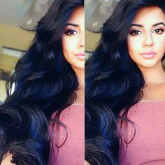 Image result for black to blue hair style