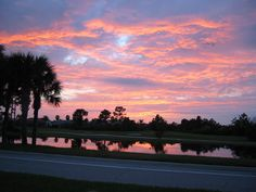 florida sunsets | Venice, FL : Florida Sunset at Pelican Point Country Club Subdivison