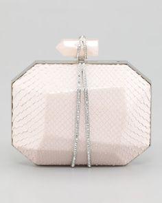 #Marchesa Iris Python Minaudiere, Light Pink #Neiman Marcus